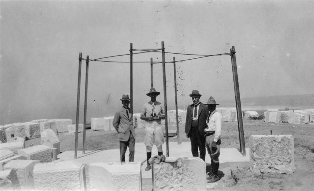 Group on the site of the proposed Chunuk Bair memorial, circa 1918