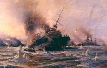 The Bouvet was one of three Allied battleships sunk by mines during the naval attack on the 18th of March 1915