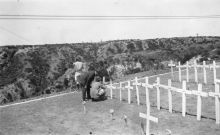 A cemetery on the Gallipoli peninsula circa 1918