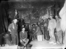 Men of the New Zealand Tunnelling Company below ground at La Fosse Farm, 5 December 1917.