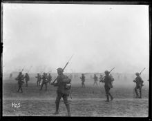 New Zealand soldiers training in Belgium for the attack on Messines.