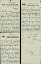 A postcard from Bill Jenkins, Armentières, 19 October 1916.