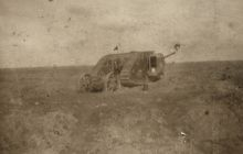 The Mark I, one of first tanks used in battle at the Somme, 1916.